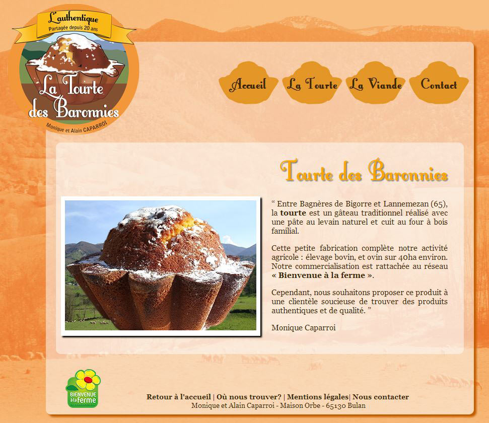 Cr ation de site web vitrine tourtes des baronnies a for Idee de site internet