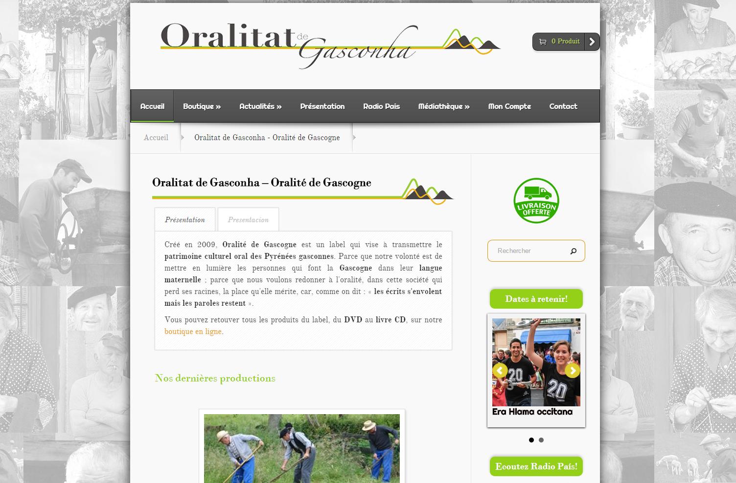 Boutique en ligne • Oralitat de Gasconha