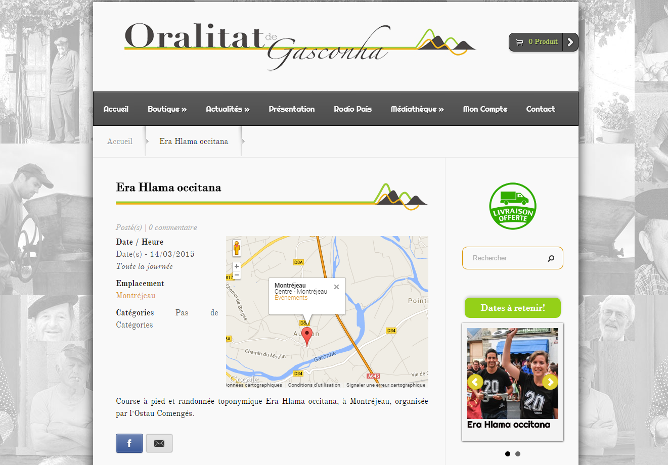 Boutique en ligne oralitat de gasconha a votre id e for Idee creation site internet