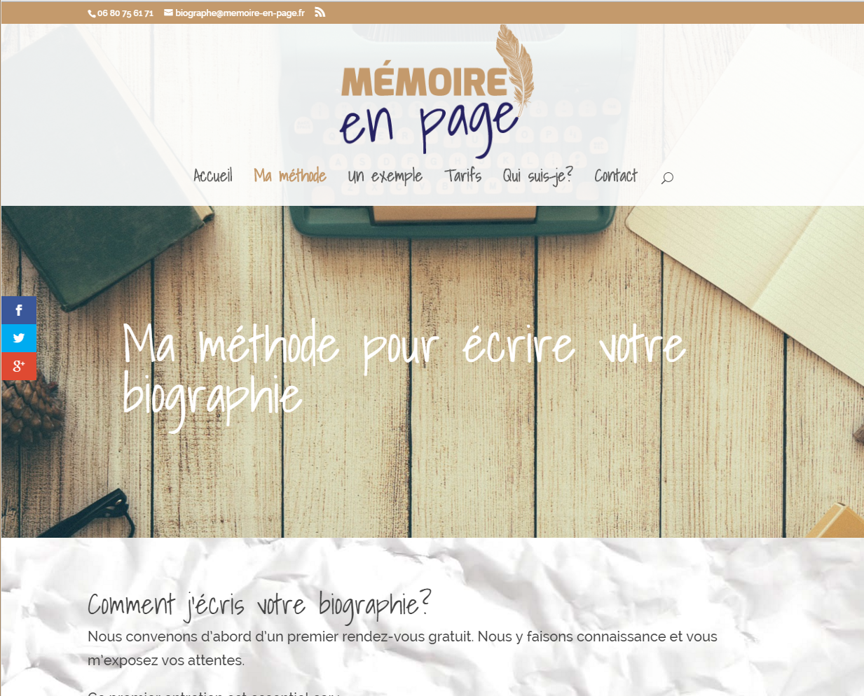Cr ation de site web m moire en page a votre id e for Idee de site internet