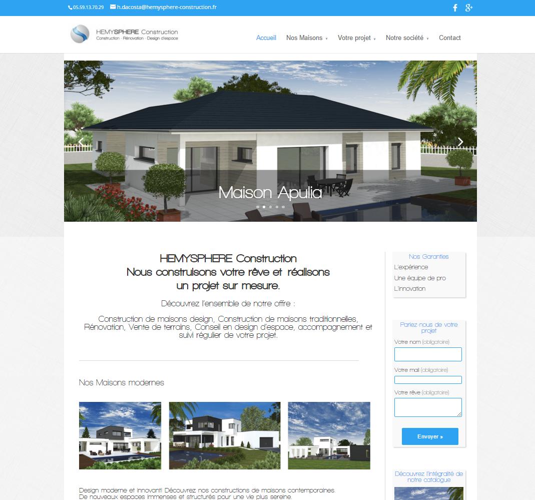 Création d'un site web pour un constructeur immobilier Pau