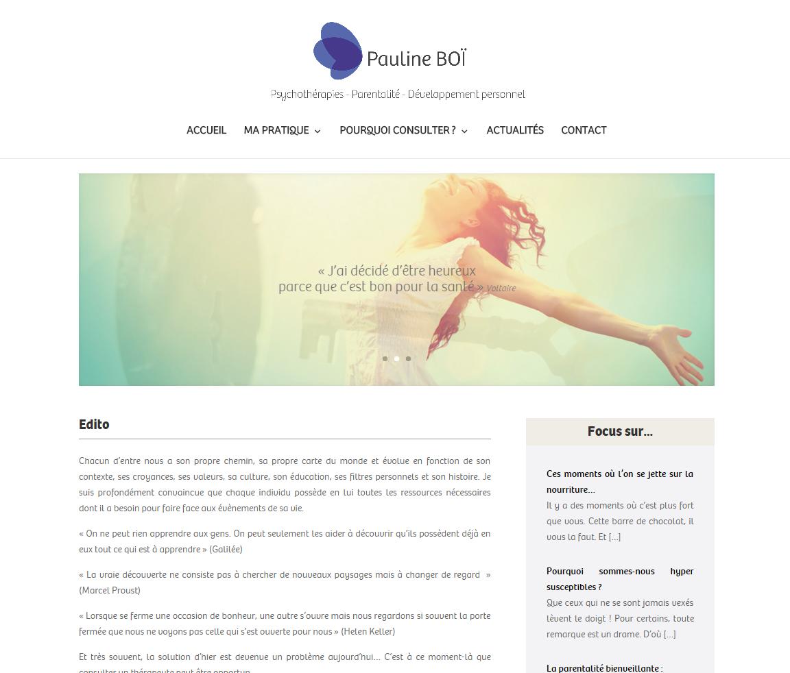 Création d'un site web pour un Coach