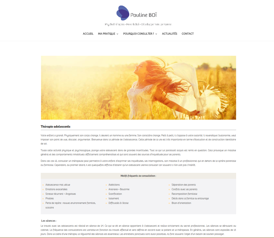Page interieure a votre id e studio graphique for Idee creation site internet