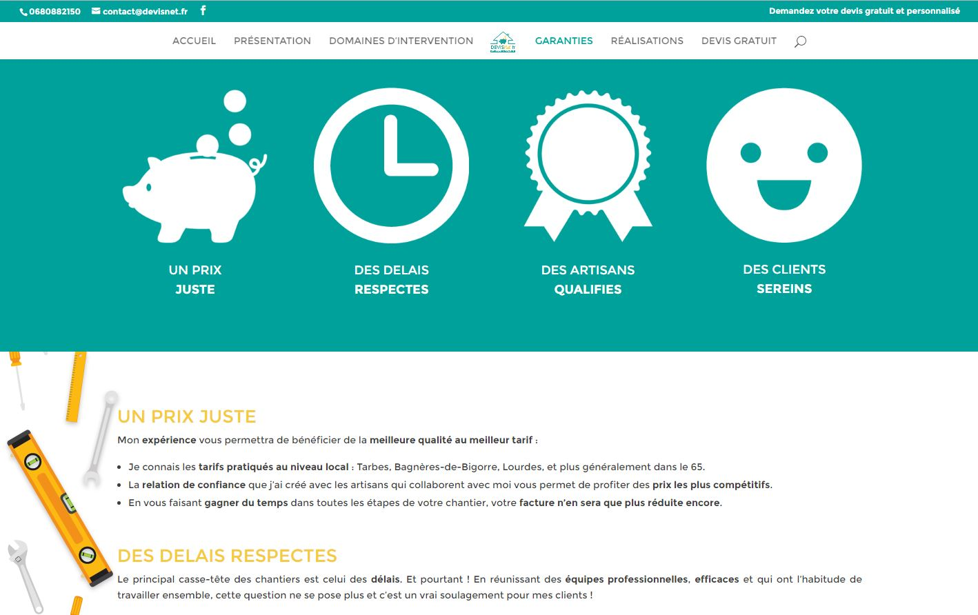 Pack communication pour site web charte for Idee pour site web