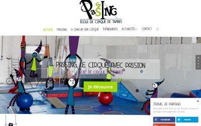 Création du site internet de l'école de cirque de Tarbes