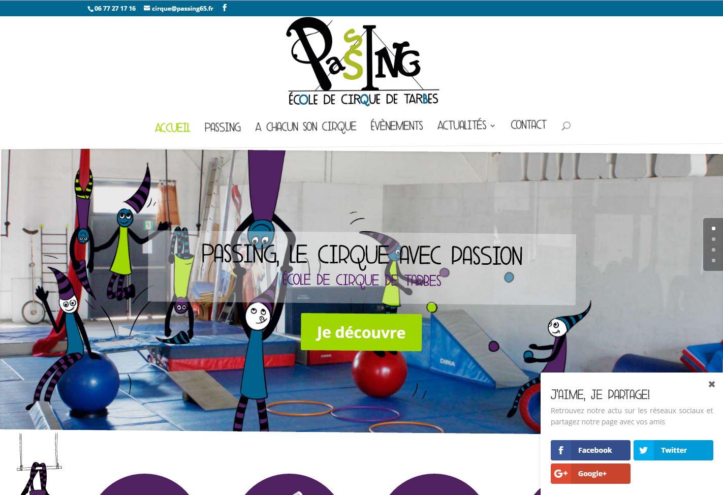 Cr ation du site internet de l 39 cole de cirque de tarbes - Cours de cuisine tarbes ...