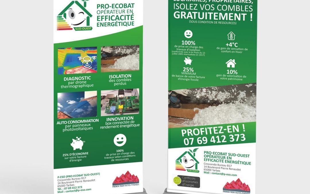 Création de deux rollups et community management pour Pro Ecobat Sud-Ouest